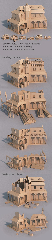 3DOcean Town house 8818790