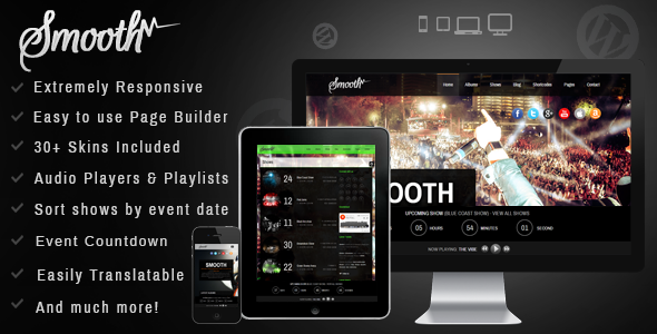 ThemeForest Smooth Responsive Full Screen Music Theme 8475147