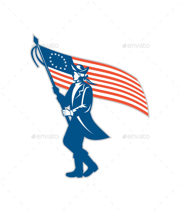 GraphicRiver American Patriot Waving USA Flag 8819388