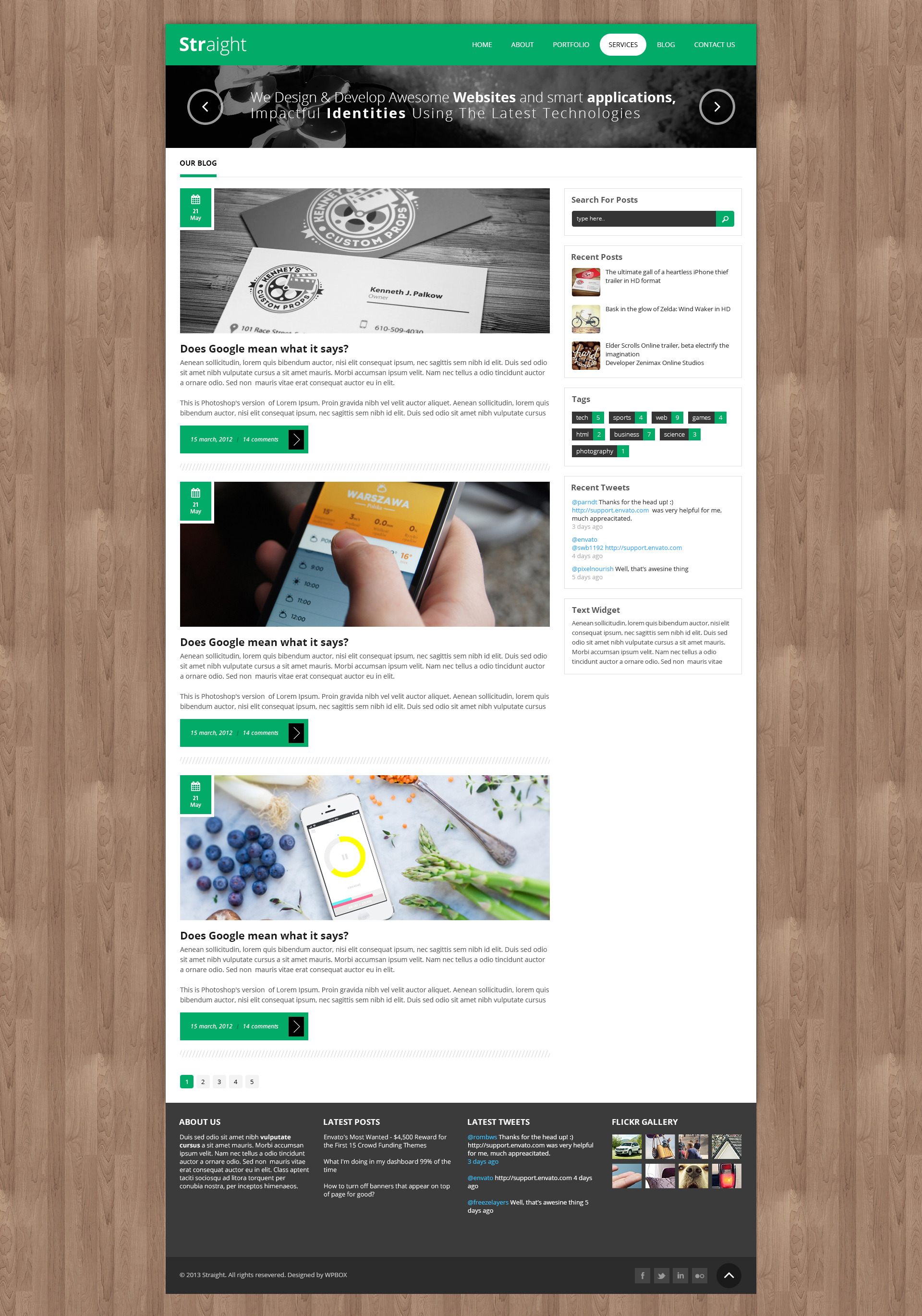Straight - Multipurpose WordPress Theme