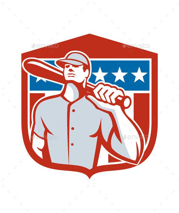 GraphicRiver American Baseball Player 8819398