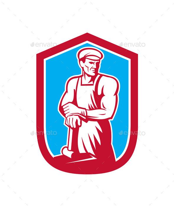 GraphicRiver Foundry Worker Blacksmith 8819401