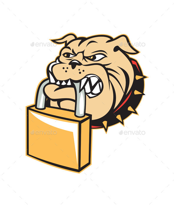 GraphicRiver Bulldog Head Padlock 8819410