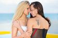 Two kissing women wearing sexy underwear - PhotoDune Item for Sale