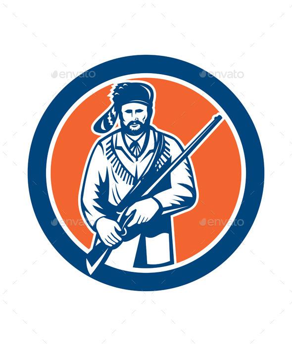 GraphicRiver Davy Crockett American Frontiersman 8819458