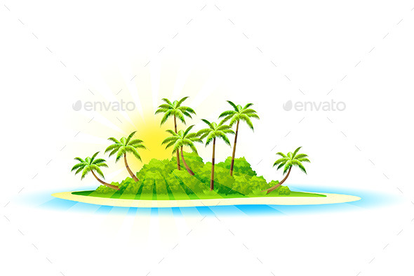 GraphicRiver Tropical Island Background 8819465