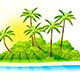 Tropical Island Background - GraphicRiver Item for Sale