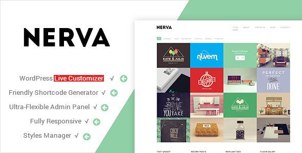 Nerva - Premium Minimal WordPress Theme - Portfolio Creative