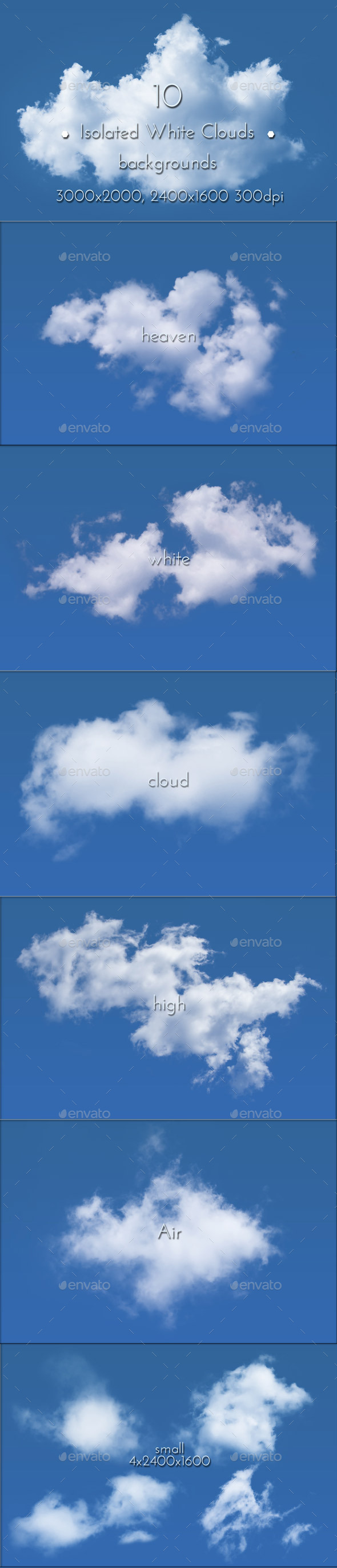 GraphicRiver White Clouds Isolated 8819493