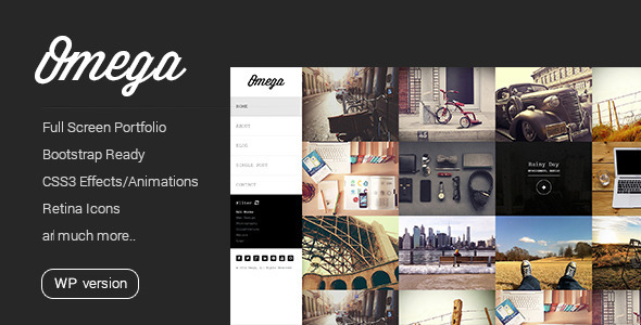 Omega - Minimal WordPress Theme - Personal Blog / Magazine