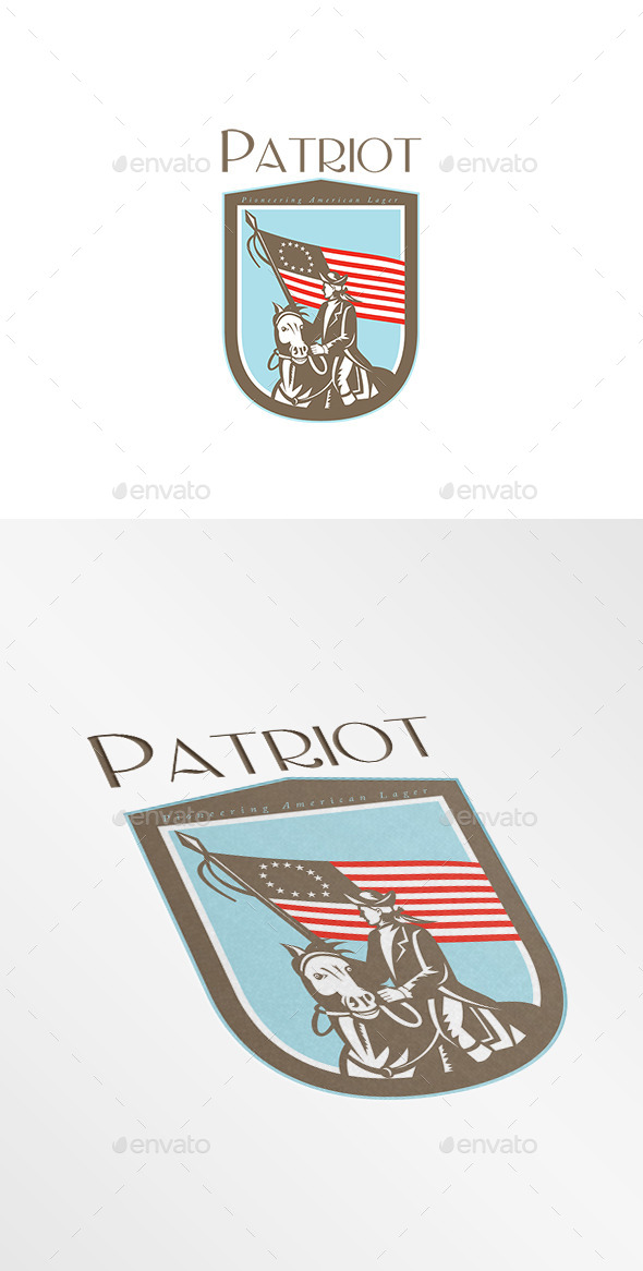 GraphicRiver Patriot Pioneering American Lager Logo 8819546