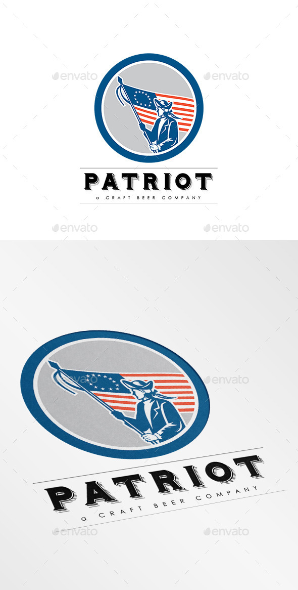 GraphicRiver Patriot Craft Beer Company Logo 8819548