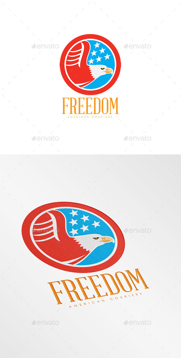 GraphicRiver Freedom American Couriers Logo 8819561