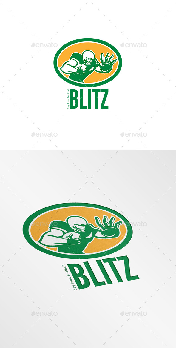 GraphicRiver Blitz Bay Area Football Logo 8819564