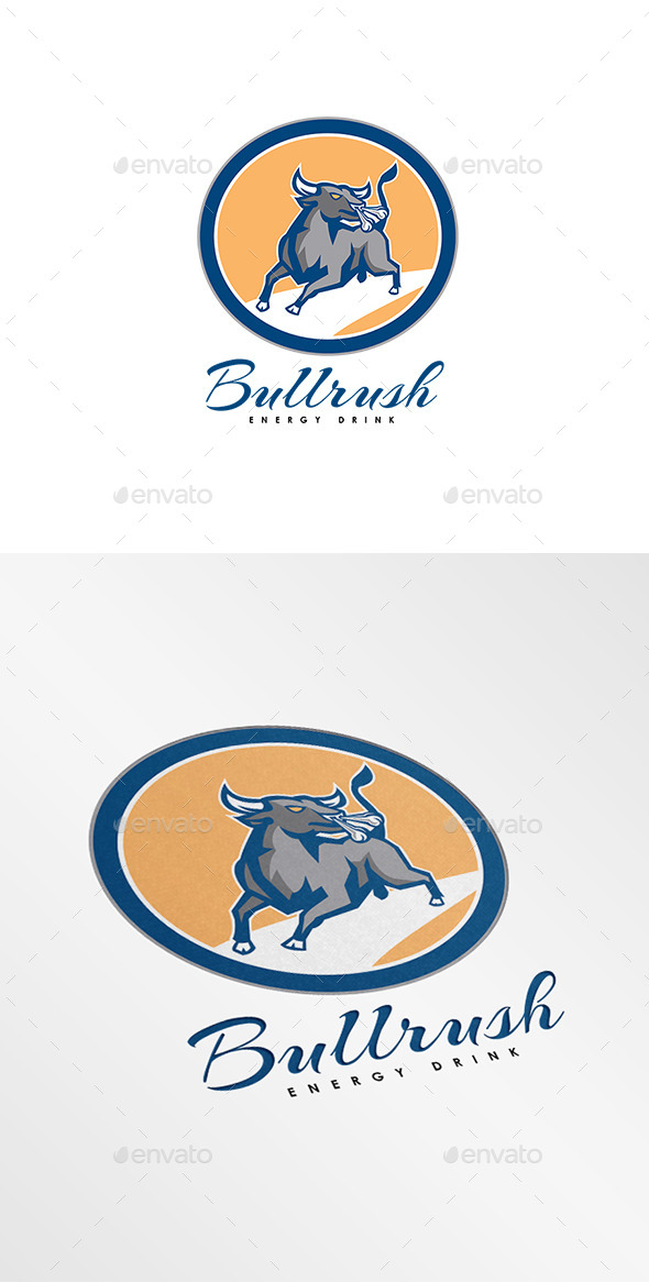 GraphicRiver Bullrush Energy Drink Logo 8819584