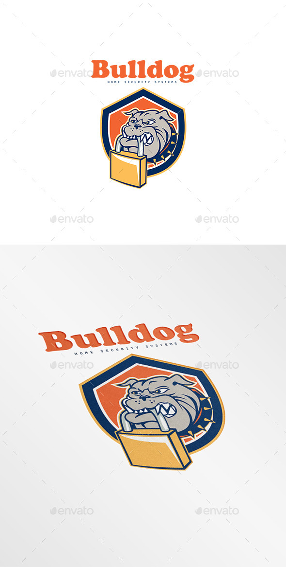 GraphicRiver Bulldog Home Security Systems Logo 8819586