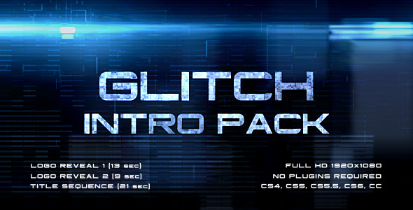 Glitch Intro Pack