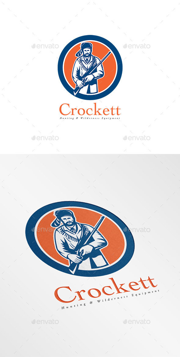 GraphicRiver Crockett Hunting Equipments Logo 8819594