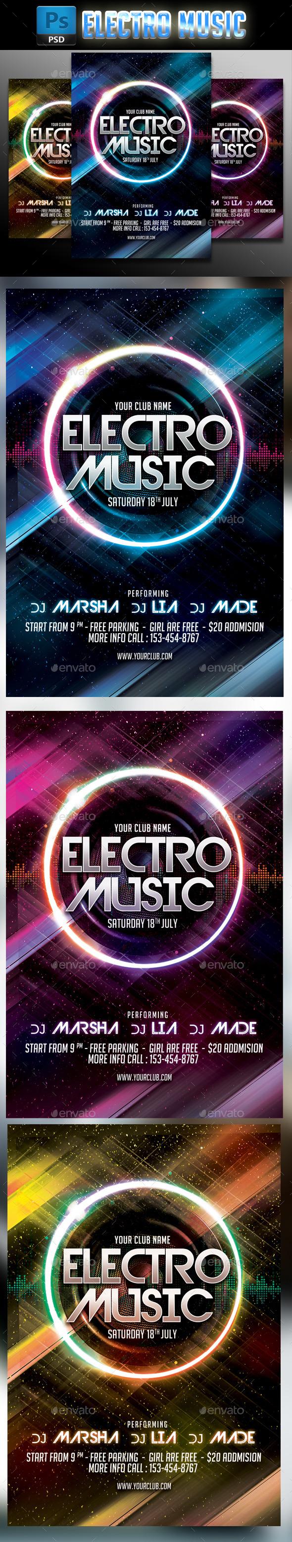 GraphicRiver Electro Music 8811099