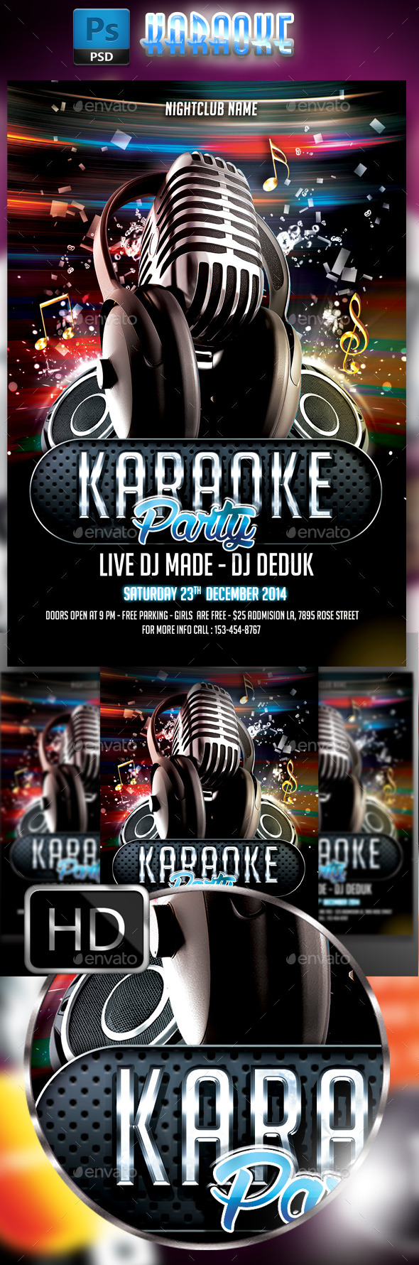 GraphicRiver Karaoke Flyer #3 8819610