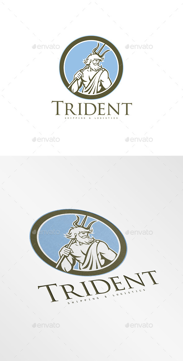 GraphicRiver Trident Shipping and Logistics Logo 8819628