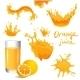 Orange Juice Splashes - GraphicRiver Item for Sale