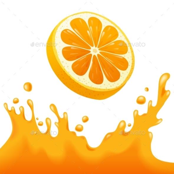 GraphicRiver Orange Juice Splash 8819694