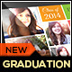 Graduation Announcement Card Template - GraphicRiver Item for Sale