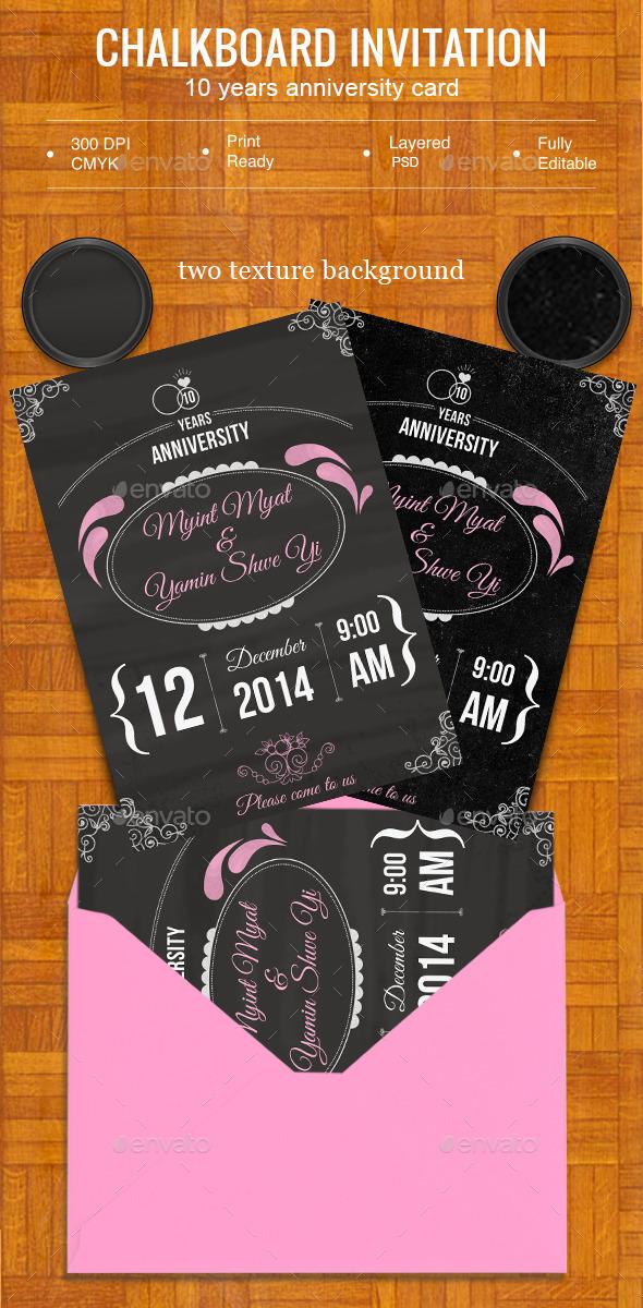 GraphicRiver Chalkboard Invitaiton 8791706