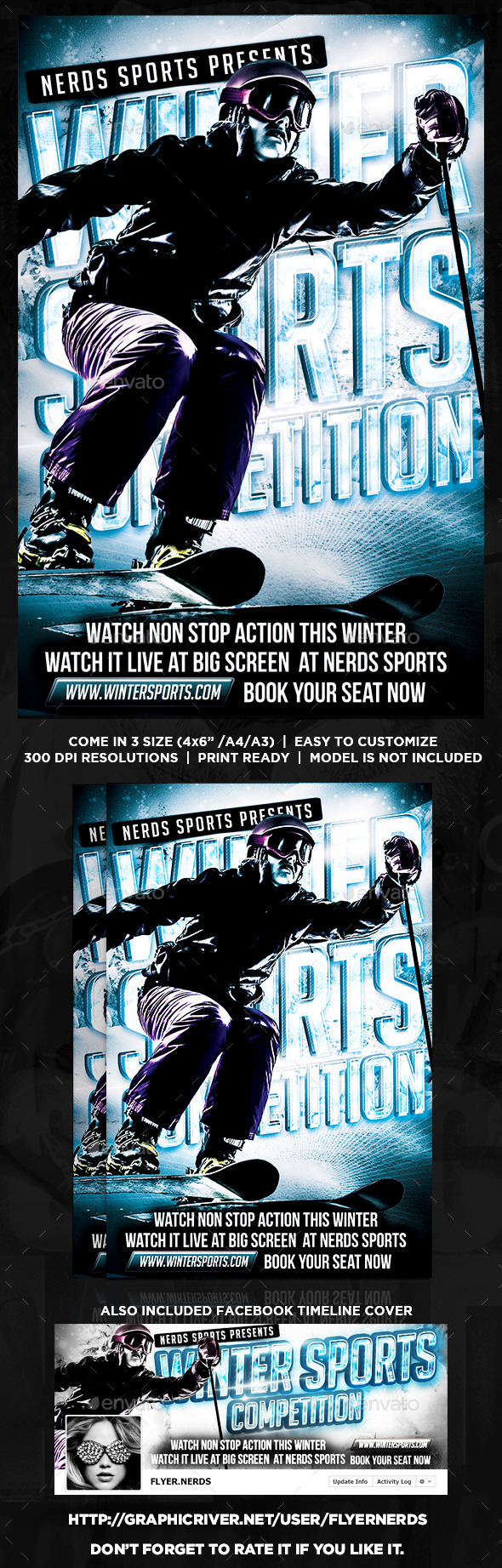 GraphicRiver Winter Sports Competition Flyer 8819883