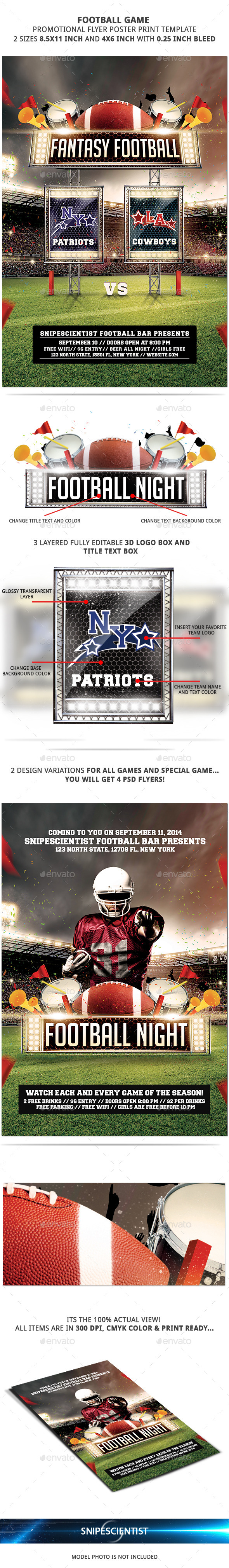 GraphicRiver FootBall Game Flyer Template With 2 Variations 8819981