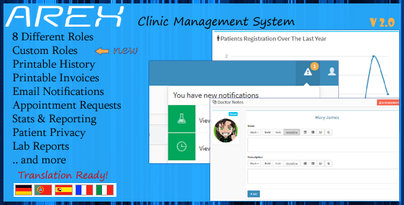 CodeCanyon AREX Clinic Management System 8820110