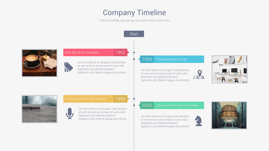 Robo Keynote Presentation Template by VigitalArt – Sample Keynote Timeline