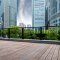 Office buildings and wooden platforms - PhotoDune Item for Sale