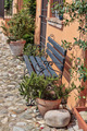 Bench on the street in the old town in Italy - PhotoDune Item for Sale