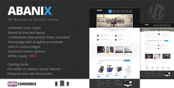 Abanix Business, Portfolio & Shop - WooCommerce eCommerce