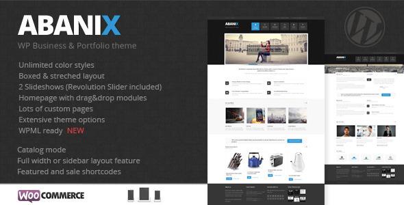 Abanix Business, Portfolio & Shop - WooCommerce eCommerce