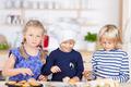 Girls Baking Cupcakes At Kitchen Counter - PhotoDune Item for Sale