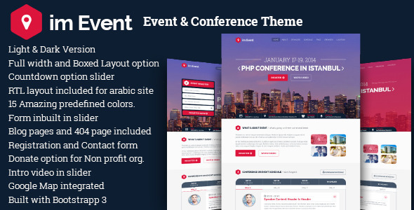 im Event - One Page Event Conference Landing Page - Events Entertainment