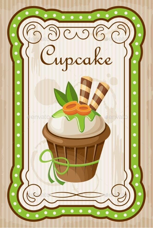 GraphicRiver Vintage Cupcake Poster 8821902