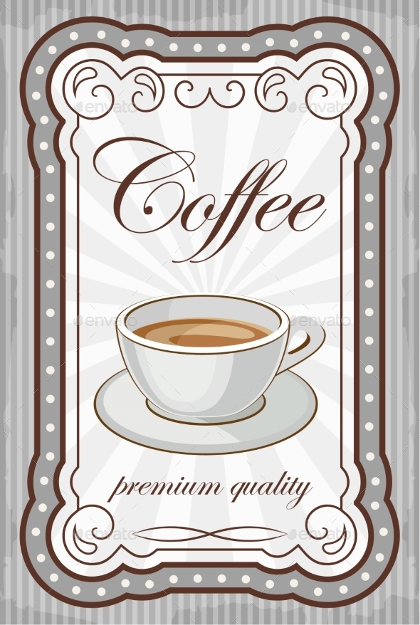 GraphicRiver Vintage Coffee Poster 8821903