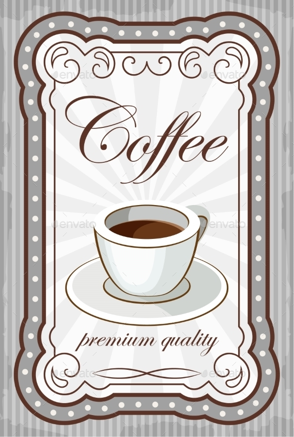GraphicRiver Vintage Coffee Poster 8821905