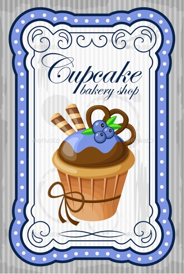 GraphicRiver Vintage Cupcake Poster 8821907