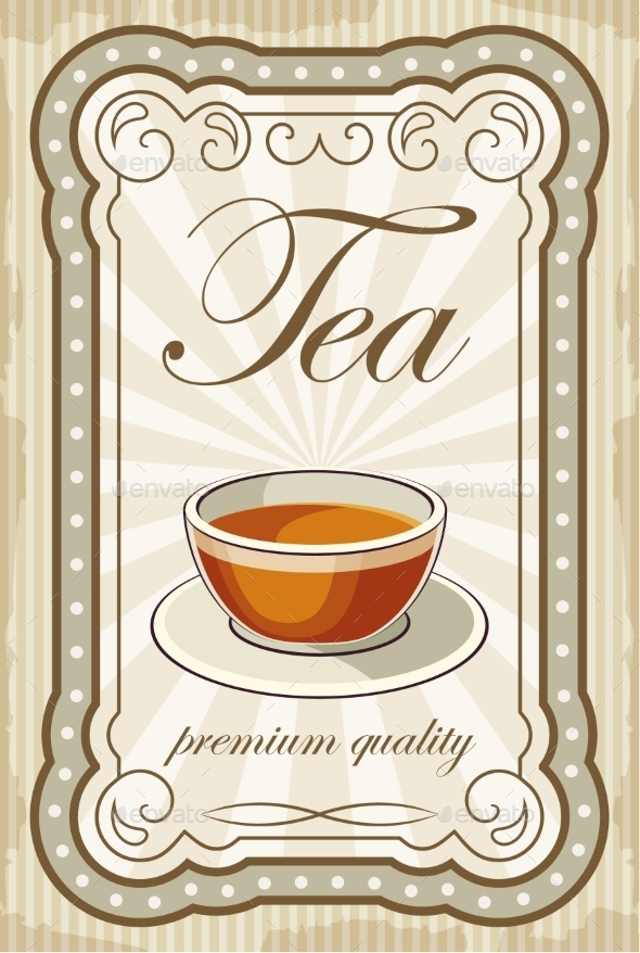 GraphicRiver Vintage Tea Posters 8821908