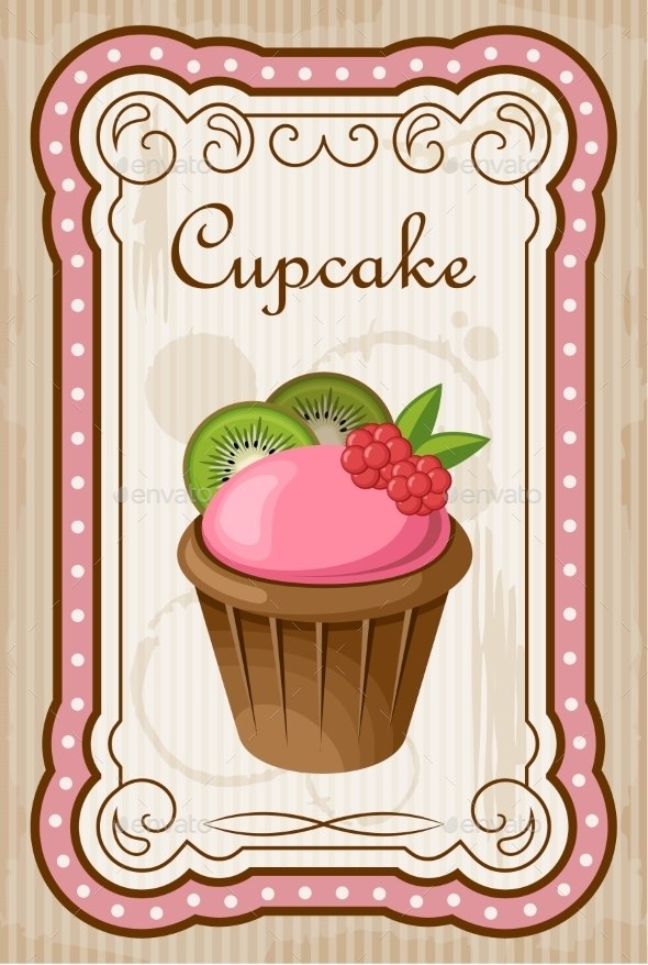 GraphicRiver Vintage Cupcake Poster 8821909