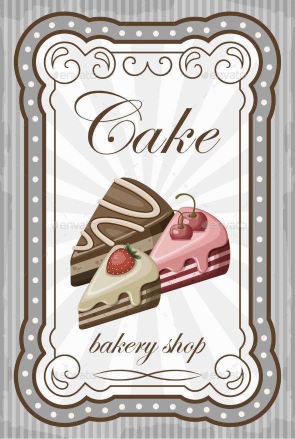 GraphicRiver Vintage Cake Poster 8821910