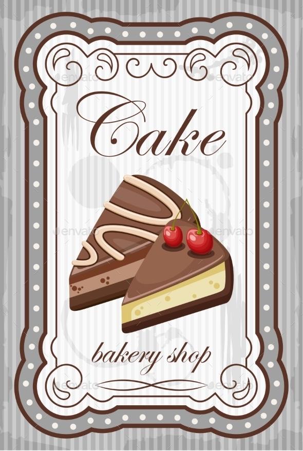 GraphicRiver Vintage Cake Poster 8821912