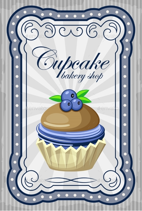 GraphicRiver Vintage Cupcake Poster 8821915