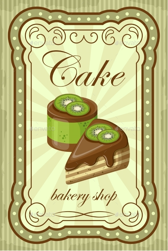 GraphicRiver Vintage Cupcake Poster Vector Illustration 8821917