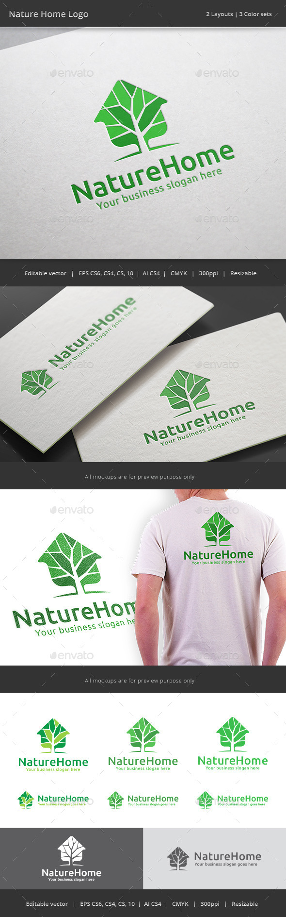 GraphicRiver Nature Home Logo 8821919